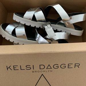 Kelsi Dagger silver sandals